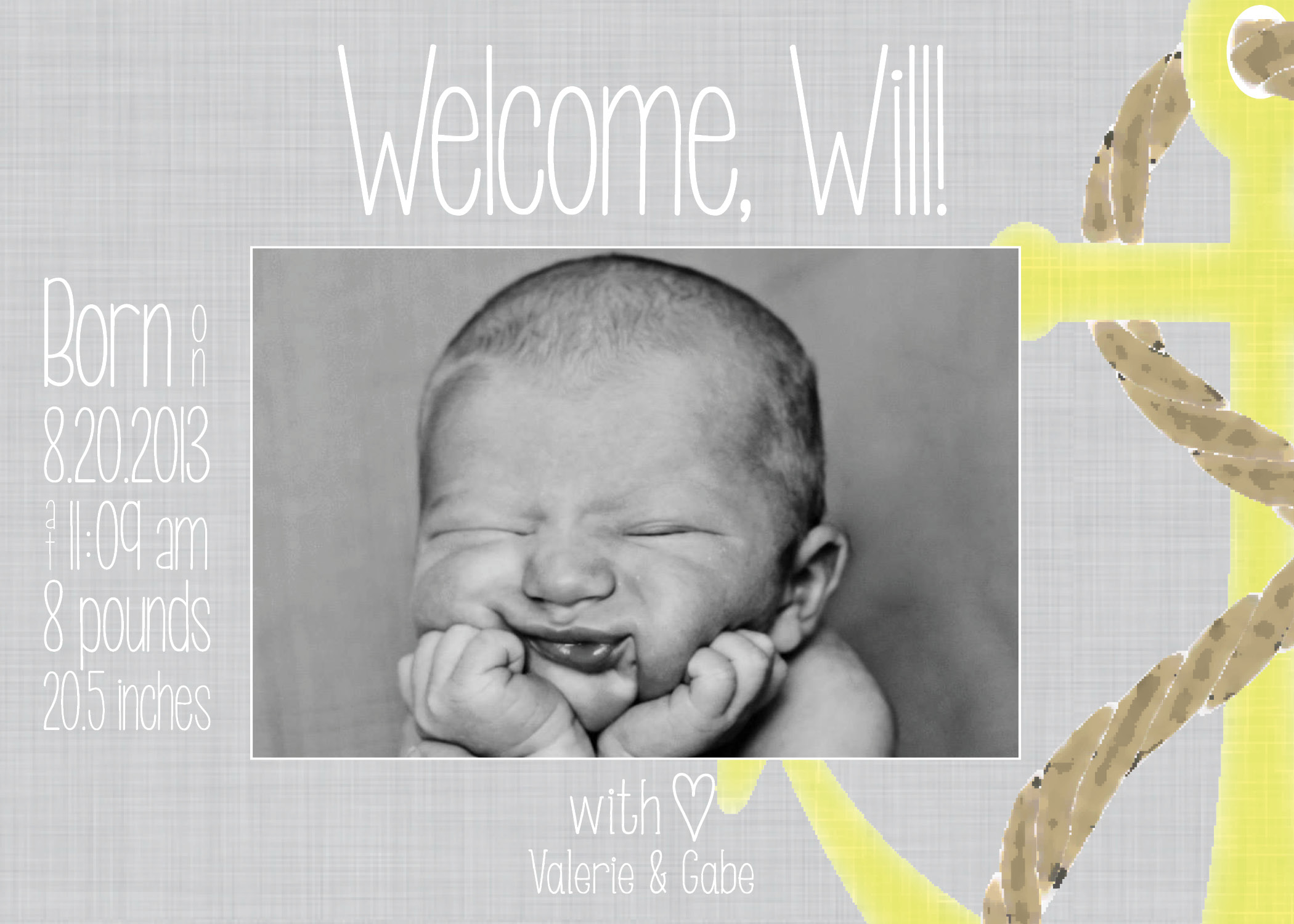 birth announcements for boys